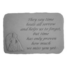 They Say Time Heals...(With Sitting Angel) All Weatherproof Cast Stone