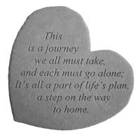This Is A Journey... All Weatherproof Cast Stone