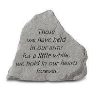 Those We Have Held... All Weatherproof Cast Stone Memorial