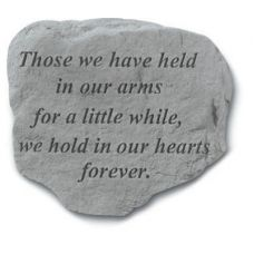 Those We Have Held In Our Arms... All Weatherproof Cast Stone