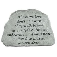 Those We Love Don't Go Away... All Weatherproof Cast Stone