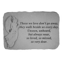 Those We Love Don't Go Away...With Standing Weatherproof Cast Stone