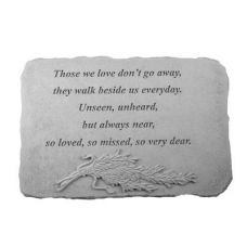 Those We Love Don't Go... w/Rosemary Weatherproof Cast Stone Memorial