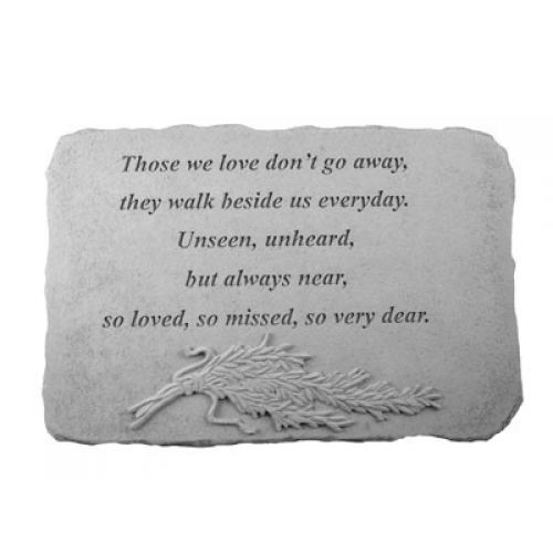 Those We Love Don t Go... w/Rosemary Weatherproof Cast Stone Memorial - 707509075446 - 07544