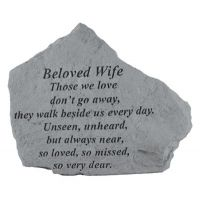 Those We Love Dont Go Away... All Weatherproof Cast Stone Memorial