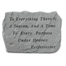 To Everything Is A Season... All Weatherproof Cast Stone