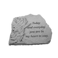 Today And Everyday... w/Fern All Weatherproof Cast Stone Memorial