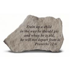Train Up A Child In The Way He... All Weatherproof Cast Stone