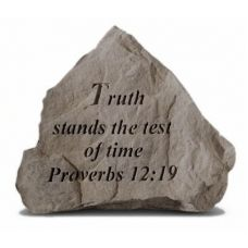Truth Stands The Test Of Time All Weatherproof Cast Stone