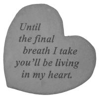 Until The Final... Decorative Stone Heart All Weatherproof Cast Stone