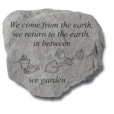 We Come From The Earth... Decorative Stone All Weatherproof Cast Stone