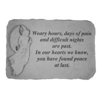 Weary Hours, Days Of Pain(With Standing An Cast Stone Memorial