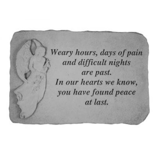 Weary Hours, Days Of Pain(With Standing An Cast Stone Memorial - 707509220204 - 22020