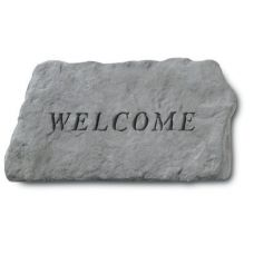Welcome All Weatherproof Cast Stone