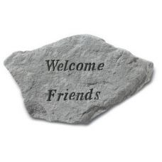 Welcome Friends... All Weatherproof Cast Stone