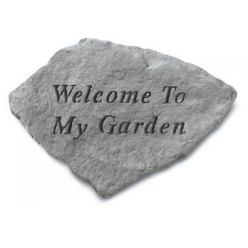 Welcome To My Garden All Weatherproof Cast Stone - 707509603205 - 60320