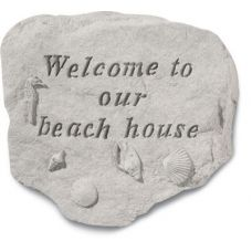 Welcome To Our Beach All Weatherproof Cast Stone
