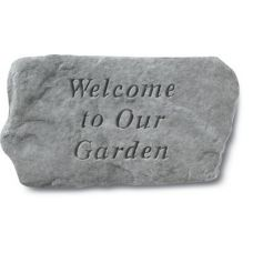 Welcome To Our Garden All Weatherproof Cast Stone