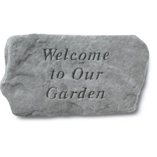 Welcome To Our Garden All Weatherproof Cast Stone - 707509614201 - 61420