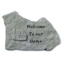 Welcome To Our Home. All Weatherproof Cast Stone