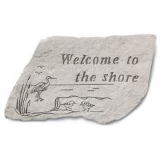 Welcome To The Shore All Weatherproof Cast Stone