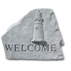 Welcome (With Lighthouse) All Weatherproof Cast Stone