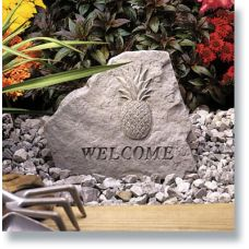 Welcome (With Pineapple) All Weatherproof Cast Stone