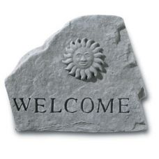 Welcome (With Sun) All Weatherproof Cast Stone
