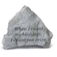 When I Count My Blessings All Weatherproof Cast Stone
