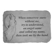 When Tomorrow Starts...(With Standing Angel) Weatherproof Cast Stone