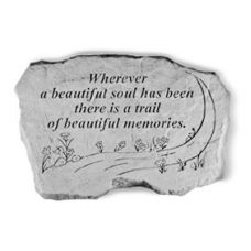 Wherever A Beautiful Soul... All Weatherproof Cast Stone Memorial