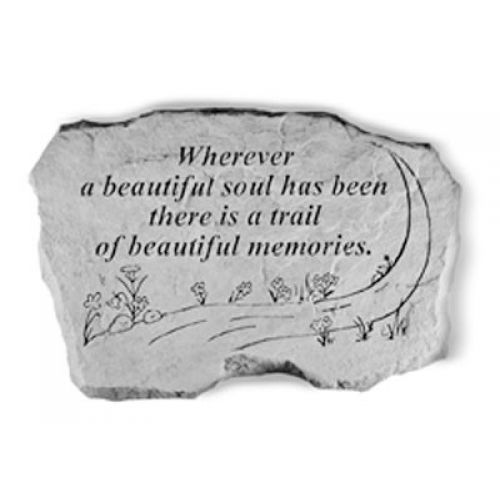 Wherever A Beautiful Soul... All Weatherproof Cast Stone Memorial - 707509632205 - 63220