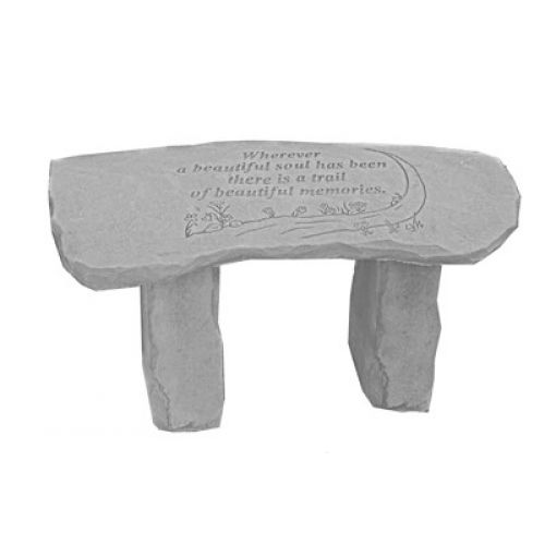 Wherever A Beautiful Soul...Bench All Weatherproof Cast Stone - 707509379209 - 37920
