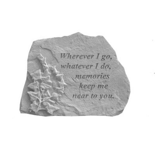 Wherever I Go... w/Ivy All Weatherproof Cast Stone Memorial - 707509070014 - 07001
