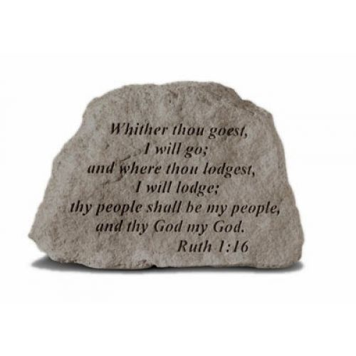 Whither Thou Goest, I Will Go... Weatherproof Cast Stone - 707509400200 - 40020
