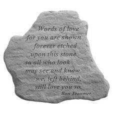 Words Of Love... All Weatherproof Cast Stone Memorial