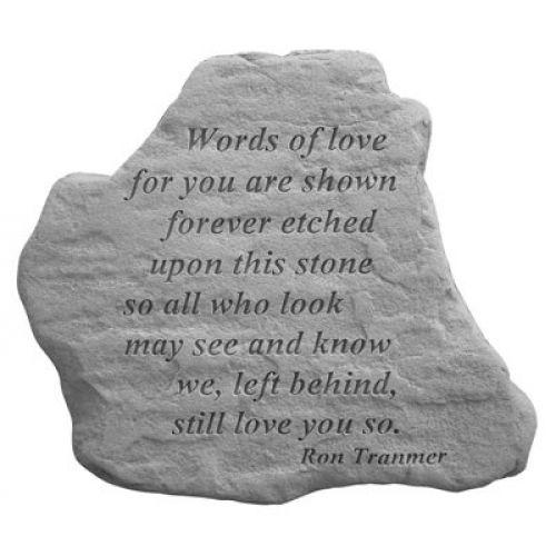 Words Of Love... All Weatherproof Cast Stone Memorial - 707509699529 - 69952