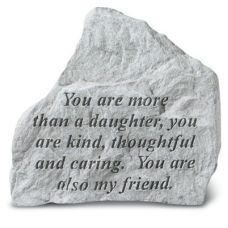 You Are More Than A Daughter All Weatherproof Cast Stone