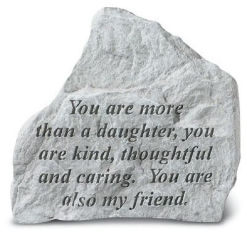 You Are More Than A Daughter All Weatherproof Cast Stone - 707509724207 - 72420