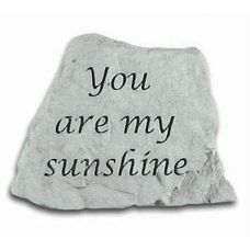 You Are My Sunshine Decorative Stone All Weatherproof Cast Stone