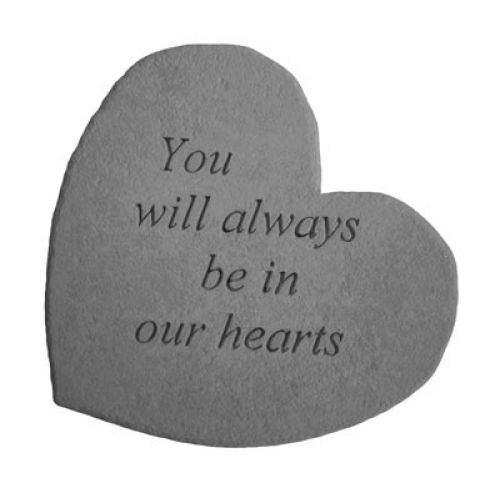 You Will Always Be... Decorative Stone All Weatherproof Cast Stone - 707509086060 - 08606