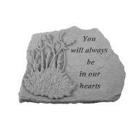 You Will Always... w/Lavendar All Weatherproof Cast Stone Memorial