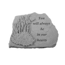 You Will Always... w/Lavendar All Weatherproof Cast Stone Memorial