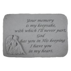 Your Memory Is...(With Sitting Angel) All Weatherproof Cast Stone