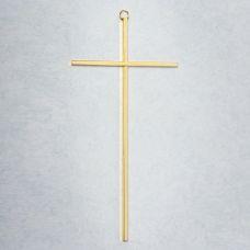 """10"""" Cross Gold plated brass"""