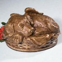 Angel Dog Cremation Urn