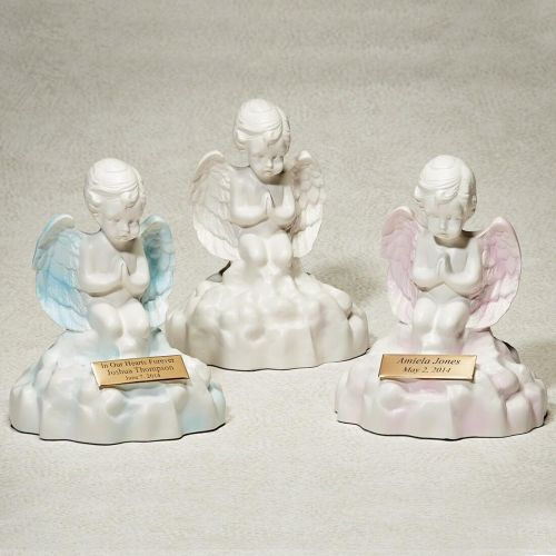 Angel on a Cloud: White Cremation Urn -  - 531138