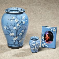Apple Blossom Cremation Urn