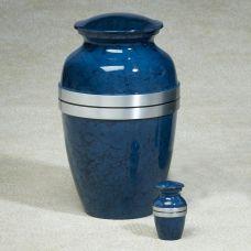 Blue Grecian Cremation Urn