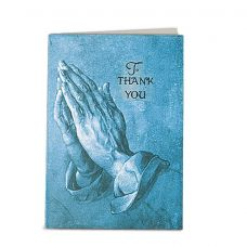 Blue Praying Hands Micro-Perforated Service Record